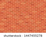 red brick wall seamless texture.... | Shutterstock .eps vector #1447455278