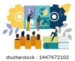 illustration office staff... | Shutterstock . vector #1447472102