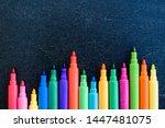 open multicolored markers...   Shutterstock . vector #1447481075
