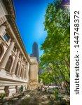 New York Library Facade And...