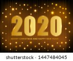 2020 merry christmas and happy... | Shutterstock .eps vector #1447484045