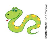 new year's symbol of a snake... | Shutterstock . vector #144749962