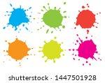 colorful paint splashes. set of ...   Shutterstock .eps vector #1447501928