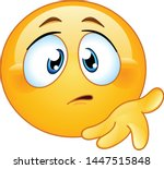 confused emoji emoticon holds... | Shutterstock .eps vector #1447515848
