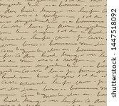 handwritten abstract text... | Shutterstock .eps vector #1447518092