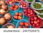vegetables on display in thai... | Shutterstock . vector #1447520372
