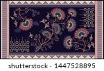 colorful ornamental vector... | Shutterstock .eps vector #1447528895