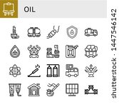 set of oil icons such as easel  ... | Shutterstock .eps vector #1447546142