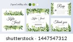 wedding invitation  thank you... | Shutterstock .eps vector #1447547312