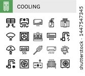 set of cooling icons such as... | Shutterstock .eps vector #1447547345