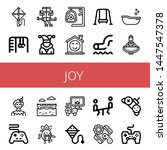 set of joy icons such as kite ... | Shutterstock .eps vector #1447547378