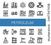 set of petroleum icons such as... | Shutterstock .eps vector #1447547438