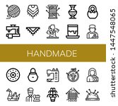 set of handmade icons such as... | Shutterstock .eps vector #1447548065