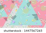 memphis pattern. geometric... | Shutterstock .eps vector #1447567265