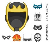 bitmap illustration of hero and ... | Shutterstock . vector #1447588748