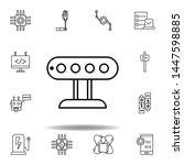 robotics sensor outline icon....