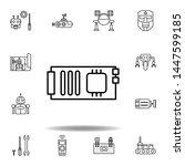 robotics mainboard outline icon....