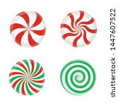 set of striped candy without... | Shutterstock .eps vector #1447607522