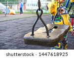 children's swing close up. the... | Shutterstock . vector #1447618925