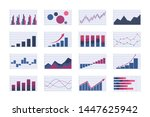 color business graph and chart... | Shutterstock .eps vector #1447625942