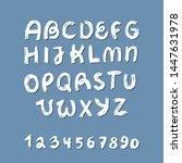 vector handwritten alphabet in... | Shutterstock .eps vector #1447631978