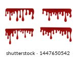blood droplets that look... | Shutterstock .eps vector #1447650542