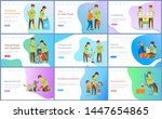 blood donation and helping... | Shutterstock .eps vector #1447654865