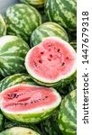 Watermelons On Display At A...