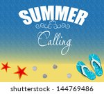 summer holidays poster vector... | Shutterstock .eps vector #144769486