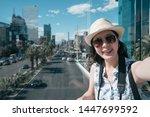 tourist woman visiting las... | Shutterstock . vector #1447699592