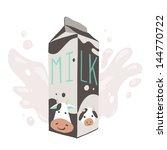 the carton of milk. the vector... | Shutterstock .eps vector #144770722