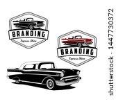 express classic car logo vector | Shutterstock .eps vector #1447730372