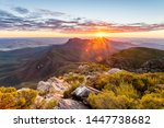 Early morning / sunrise from the peak of Bluff Knoll in the Stirling Range National Park, Western Australia, Australia.