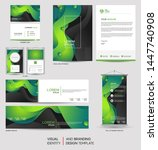 modern green stationery mock up ... | Shutterstock .eps vector #1447740908
