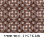 fleece blanket with braided... | Shutterstock . vector #1447743188