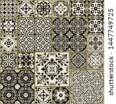 seamless patchwork tile with...   Shutterstock .eps vector #1447749725