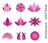 Flower Icons Set - Isolated On White Background - Vector illustration, Graphic Design Editable For Your Design. Flower Logo