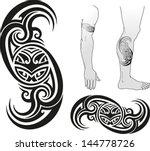 traditional maori tattoo design ... | Shutterstock .eps vector #144778726