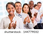 successful business group... | Shutterstock . vector #144779032