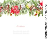 merry christmas edge of the... | Shutterstock . vector #144780772