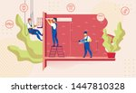 group of electrician call... | Shutterstock .eps vector #1447810328