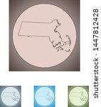 vector map of the massachusetts   Shutterstock .eps vector #1447812428