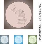 vector map of the michigan | Shutterstock .eps vector #1447812782