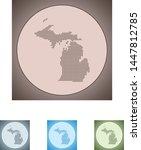 vector map of the michigan | Shutterstock .eps vector #1447812785