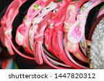 colorful headband hair... | Shutterstock . vector #1447820312