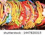 colorful headband hair... | Shutterstock . vector #1447820315
