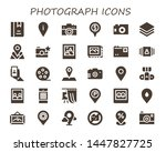photograph icon set. 30 filled... | Shutterstock .eps vector #1447827725