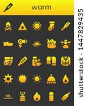 warm icon set. 26 filled warm...   Shutterstock .eps vector #1447829435