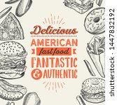fast food illustrations  burger ... | Shutterstock .eps vector #1447832192