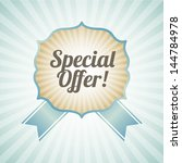 special offer over blue... | Shutterstock .eps vector #144784978